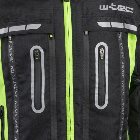 Geaca Moto W-TEC Gelnair - Negru/Verde [4]