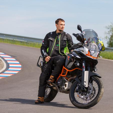 Geaca Moto W-TEC Gelnair - Negru/Verde [2]
