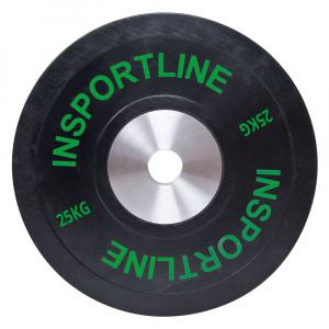 Greutate cauciucata inSPORTline Bumper Plate 25kg [0]