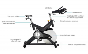 Bicicleta indoor cycling CRS3 Finnlo by Hammer8