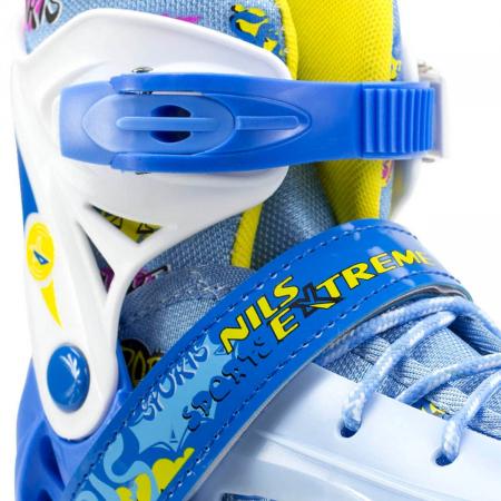 Nils Patine reglabile copii albastru NH1105A6