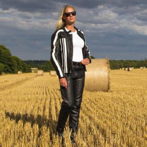 Pantaloni Moto Femei Piele W-TEC Annkra NF-1250 [5]