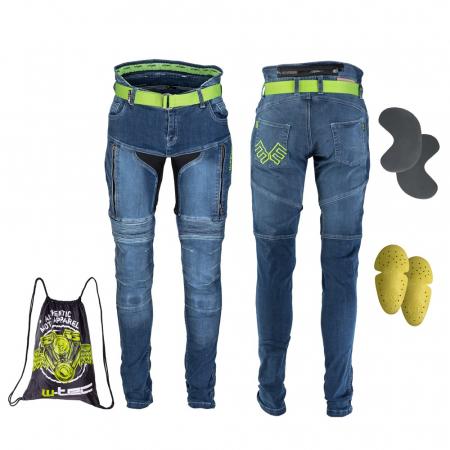 Pantaloni Moto Jeans Barbati W-TEC Grandus [12]