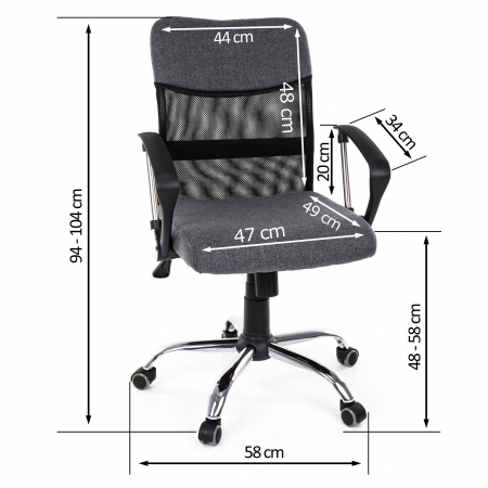 Scaun birou ergonomic Sportmann 2502, Gri [5]