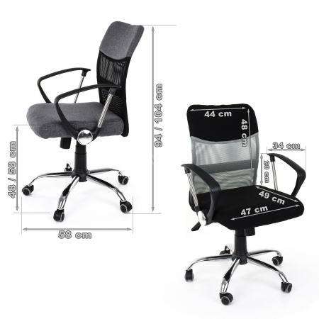 Scaun birou ergonomic Sportmann 2502-Negru [3]