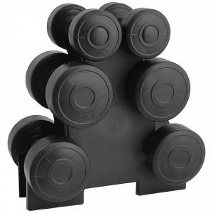 Set gantere 12 kg, suport inclus, TheWay Fitness [0]
