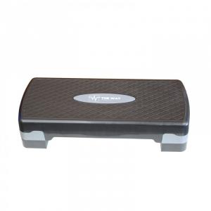 Platforma aerobic ajustabila pe 2 nivele, gri cu negru, TheWay Fitness0