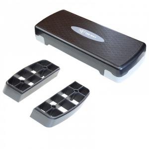 Platforma aerobic ajustabila pe 2 nivele, gri cu negru, TheWay Fitness1