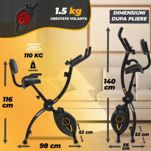 Bicicleta fitness pliabila XF1000 Progressive3