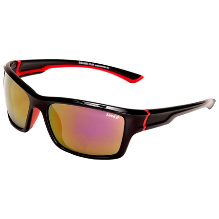 Ochelari de soare Sinner Cayo Black/Red-PC Smoke Red Mirror 0