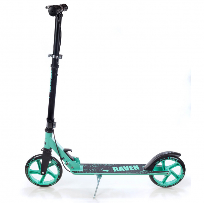 Trotinetă Raven Straight (handbrake) Black/Mint 200 mm 4
