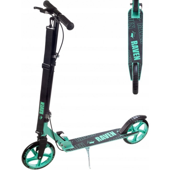 Trotinetă Raven Straight (handbrake) Black/Mint 200 mm 1