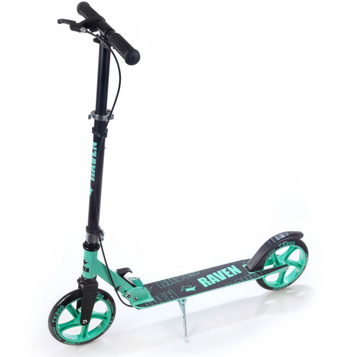 Trotinetă Raven Straight (handbrake) Black/Mint 200 mm 5