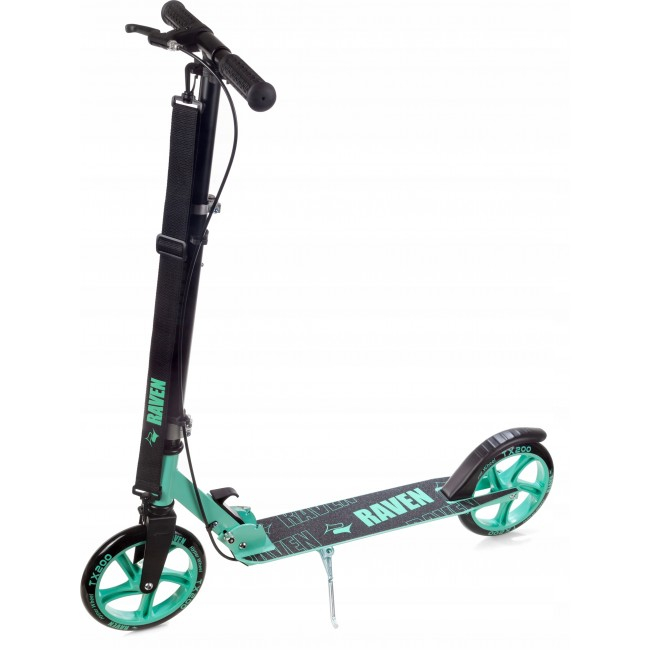 Trotinetă Raven Straight (handbrake) Black/Mint 200 mm 0
