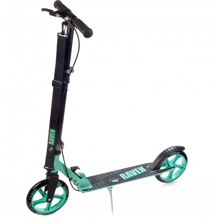 Trotinetă Raven Straight (handbrake) Black/Mint 200 mm 2
