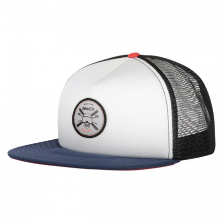Sapca Sinner CAP SKULL BADGE WHITE UNI0