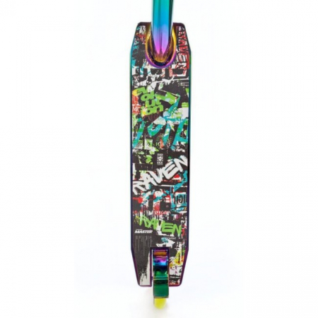 Trotinetă Raven Evolution Master Neo Chrome/Lime 110 mm5