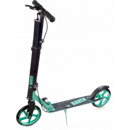 Trotinetă Raven Straight (handbrake) Black/Mint 200 mm0