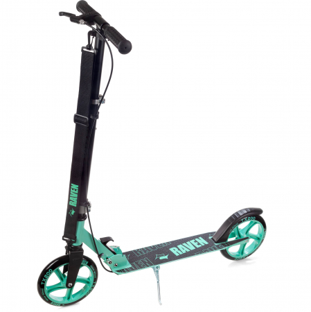 Trotinetă Raven Straight (handbrake) Black/Mint 200 mm2