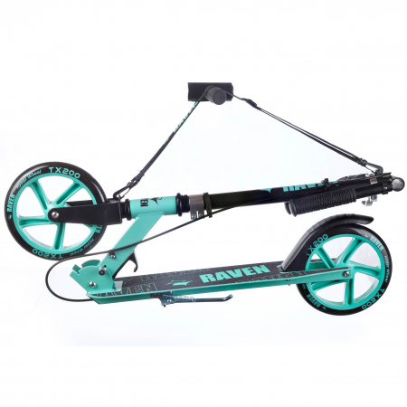 Trotinetă Raven Straight (handbrake) Black/Mint 200 mm6