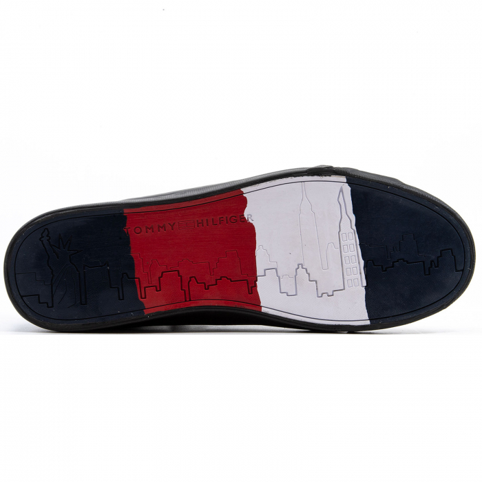 Flag Detail Leather Sneaker High 3