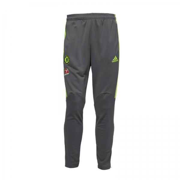 adidas Baieti/Barbati Pantaloni Trening Fotbal Chelsea 3 Stripe Climacool Gri 0