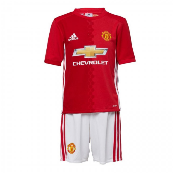 adidas Baieti Manchester United  Mini Kit Rosu/Alb 0