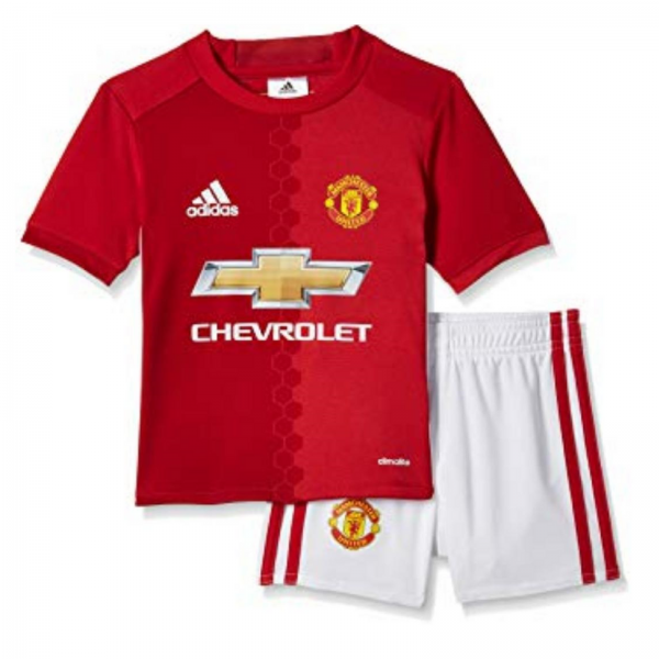 adidas Baieti Manchester United  Mini Kit Rosu/Alb 1