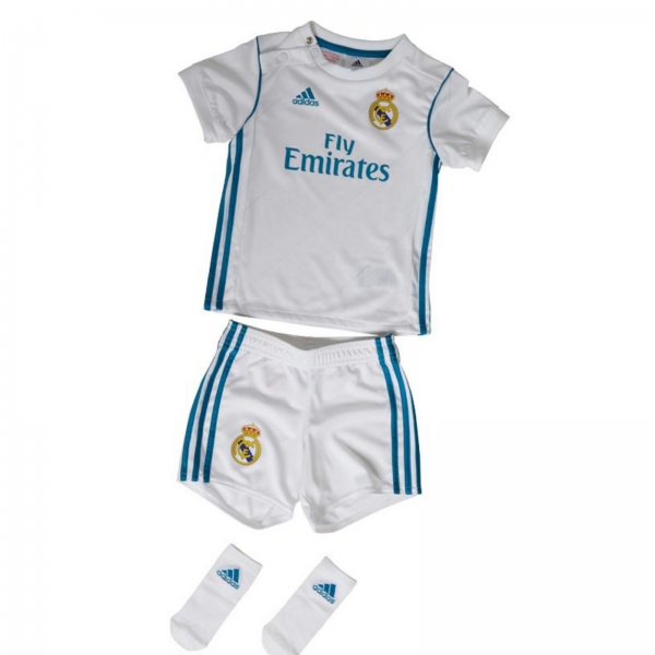 adidas Baieti Real Madrid Mini Kit Alb/Albastru 0