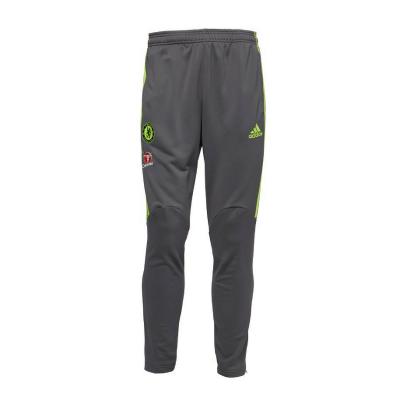 adidas Baieti/Barbati Pantaloni Trening Fotbal Chelsea 3 Stripe Climacool Gri0