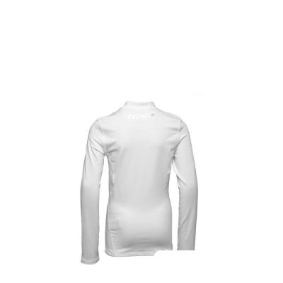 adidas Baieti Base TechFit Climawarm Maneca Lunga Alb1