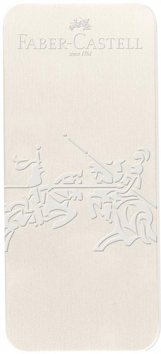 Set Stilou + Pix Grip 2010 Alb Cocos Faber-Castell [1]