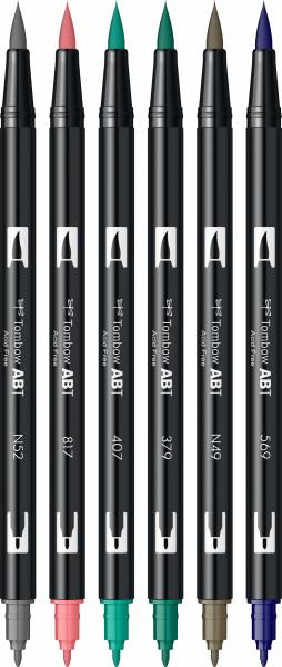 Set 6 Culori Vintage ABT Dual Brush Pen Tombow [1]
