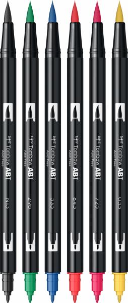 Set 6 Culori Primare Dual Brush Pen Tombow [2]