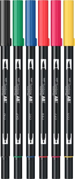 Set 6 Culori Primare Dual Brush Pen Tombow [1]