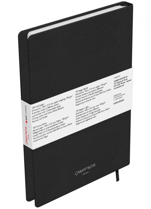 Agenda A5 Canvas Cover Black Caran d'Ache [5]