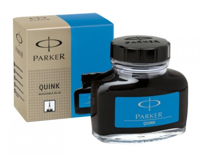 Calimara Cerneala Parker Albastru 57.50 ml Lavabil Quink [1]