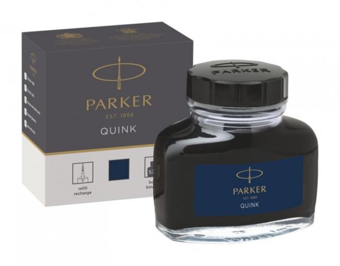 Calimara Cerneala Parker Albastru Inchis 57.50 ml Permanent Quink [1]