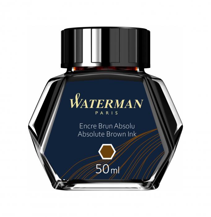 Calimara Cerneala Waterman Absolute Brown 50 ml permanent [2]
