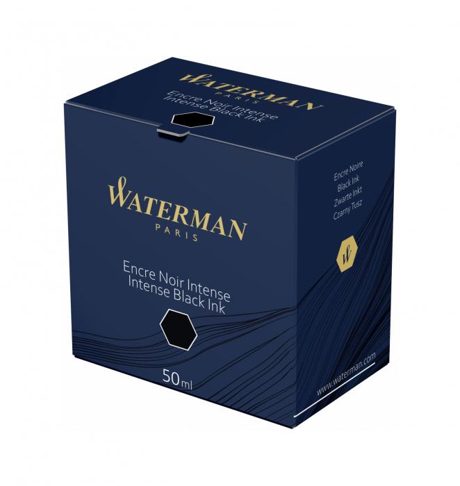 Calimara Cerneala Waterman Intense Black 50 ml permanent [3]