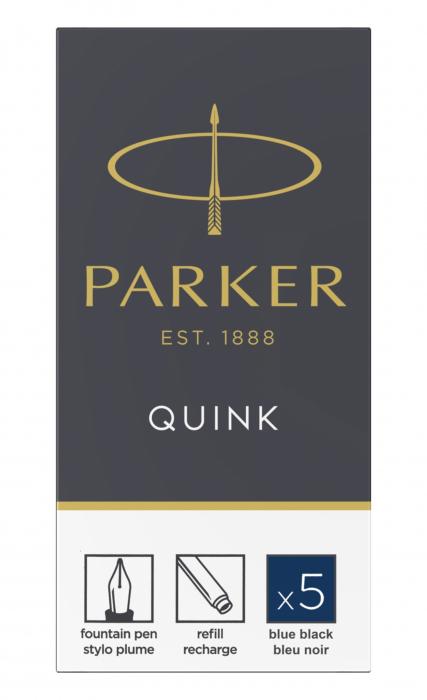 Cartuse Cerneala Parker Quink Blue Black set 5 buc [0]