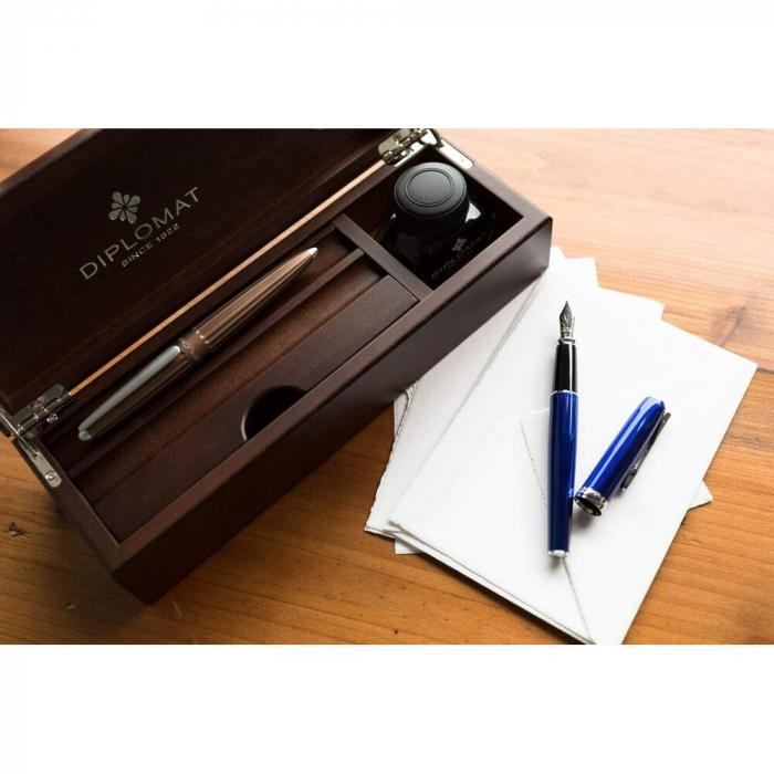 Cutie Lemn Wenge Wood pentru 2 Instrumente de Scris DIPLOMAT [1]