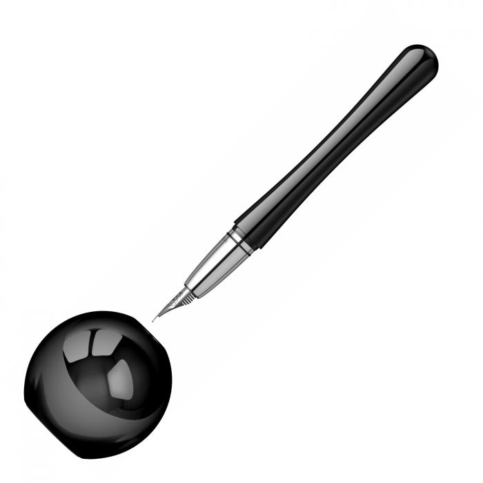 Desk Pen Set Stilou Luna Black Desk Monteverde USA [3]