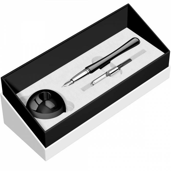 Desk Pen Set Stilou Luna Black Desk Monteverde USA [2]