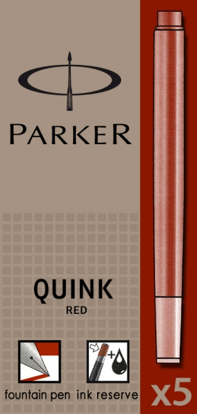 Cartuse Cerneala Parker Quink Red set 5 buc [0]