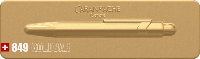 Pix Caran d'ache 849 Goldbar [18]