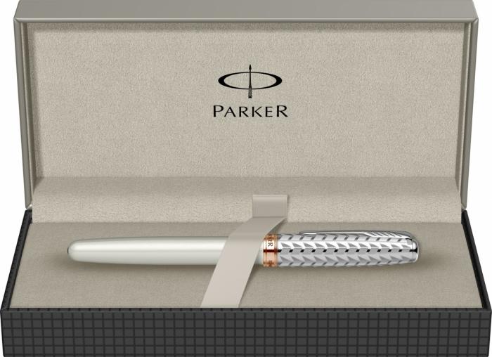 Roller Parker Sonnet Premium Feminine Pearl and Metal [5]