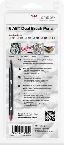 Set 6 Culori Pastel Dual Brush Pen Tombow [3]