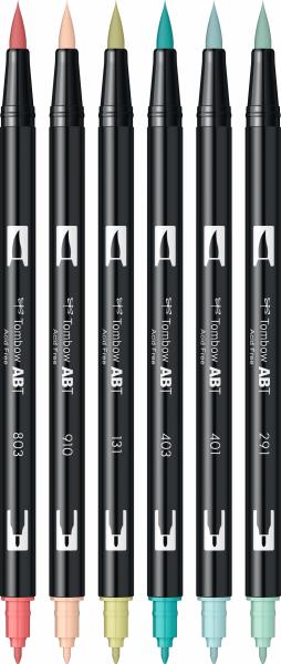 Set 6 Culori Pastel Dual Brush Pen Tombow [2]