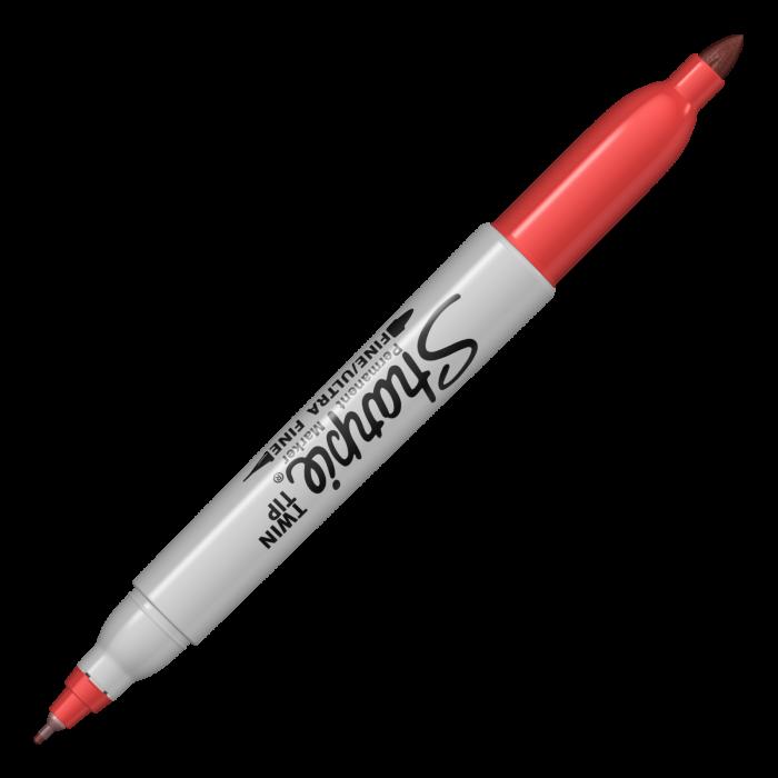 Set 8 Markere Permanente Twin Tip Bullet Sharpie 4